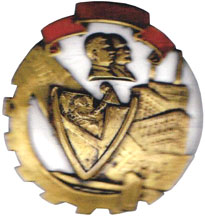 Rare badge from 1933 with Stalin and Lenin.