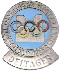Olympic games Oslo 1952, participation badge