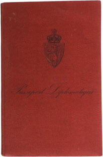 Diplomatic passport from WWII