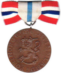 Medals for Norwegian volunteers in the Finnish winter war